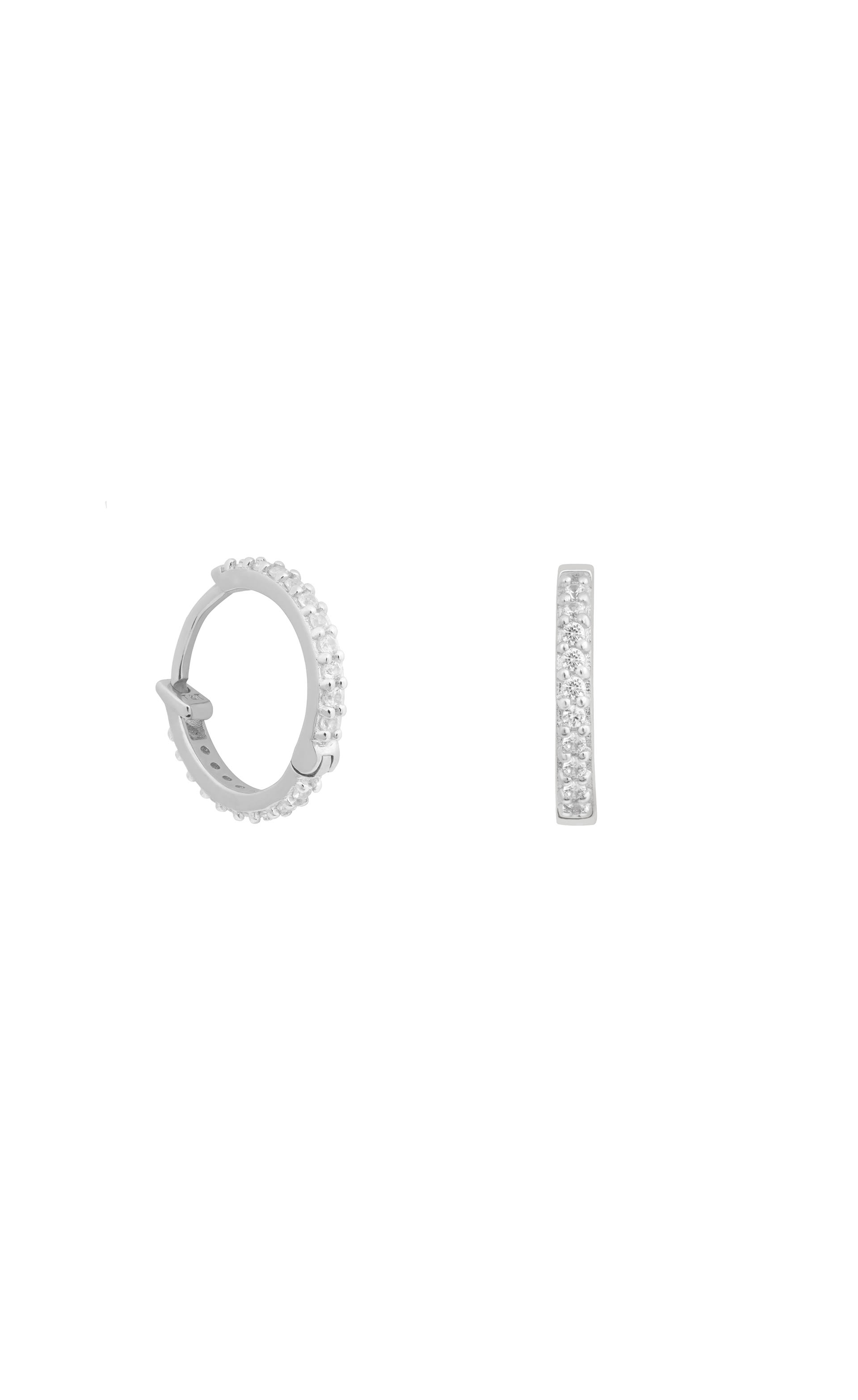 9cbe445a1382b Diamond Lucky Charm Hoops