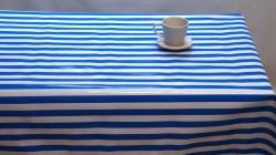 Streep smal kobaltblauw