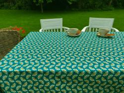 Tafelkleed Azari turquoise