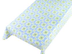 Tafelzeil retro floral blue