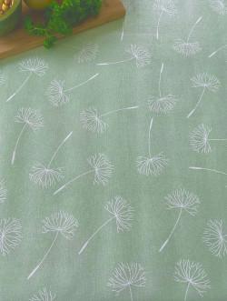 Tafelzeil schermbloem molton groen