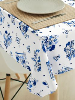 Tafelzeil Blond delftsblauw