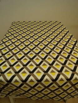 Graphic triangles grijs-geel gtl 280 cm