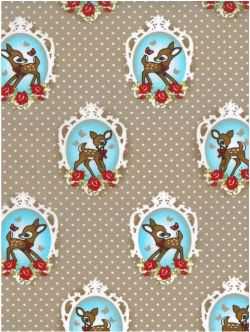 Bambi medaillon naturel pvc