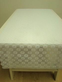 Tafelloper wit madeliefje 50 cm opengewerkt