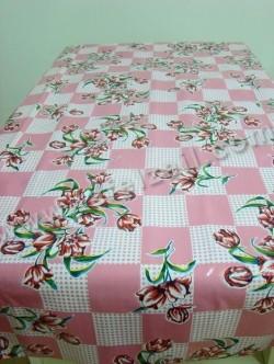Tulp op ruit roze mex