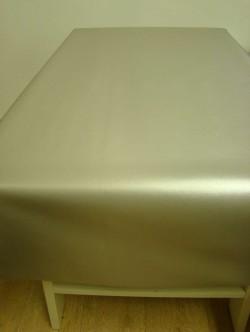 Tafelzeil geborsteld zilver
