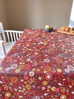 Tafelkleed Valence roest