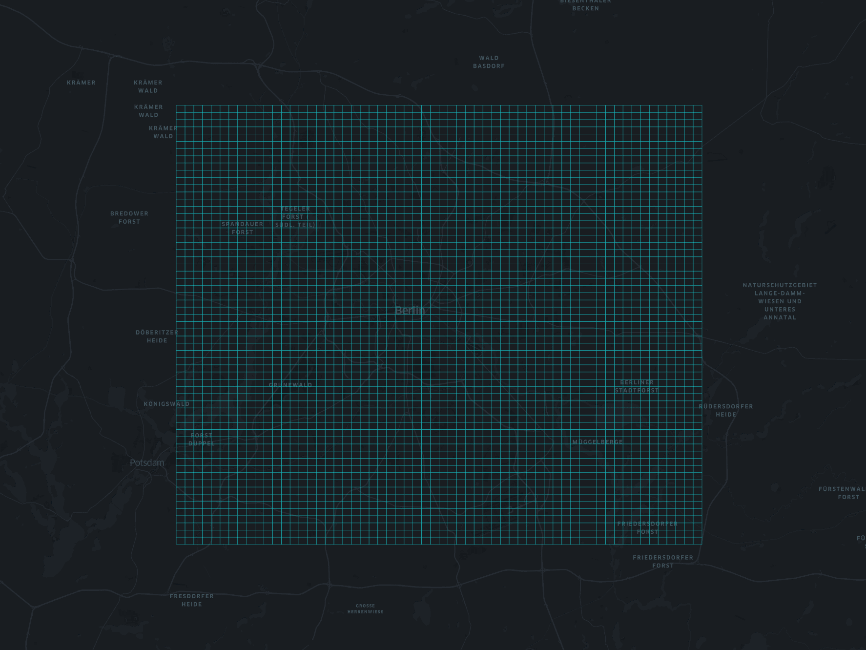 GeoHash grid of Berlin bounding box