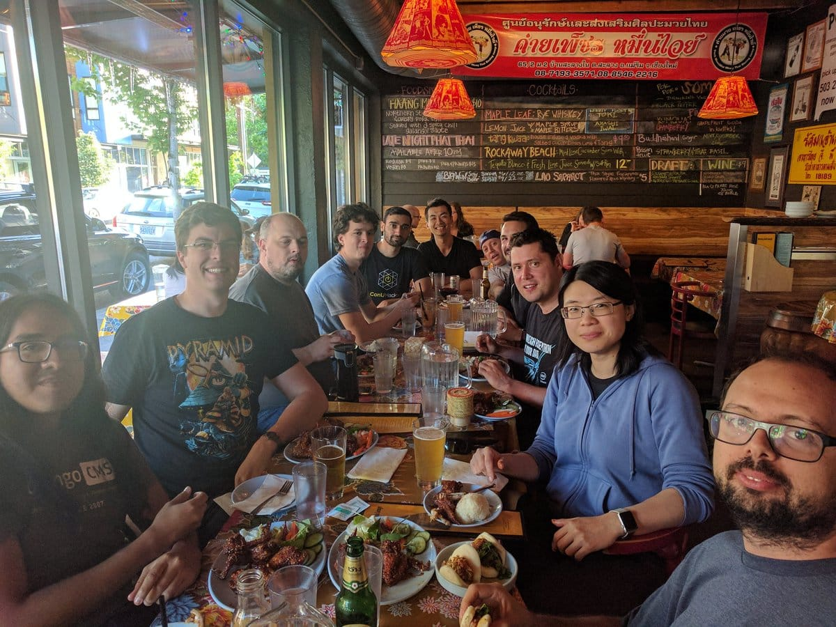 PyCon US 2017 Code Sprint Dinner at