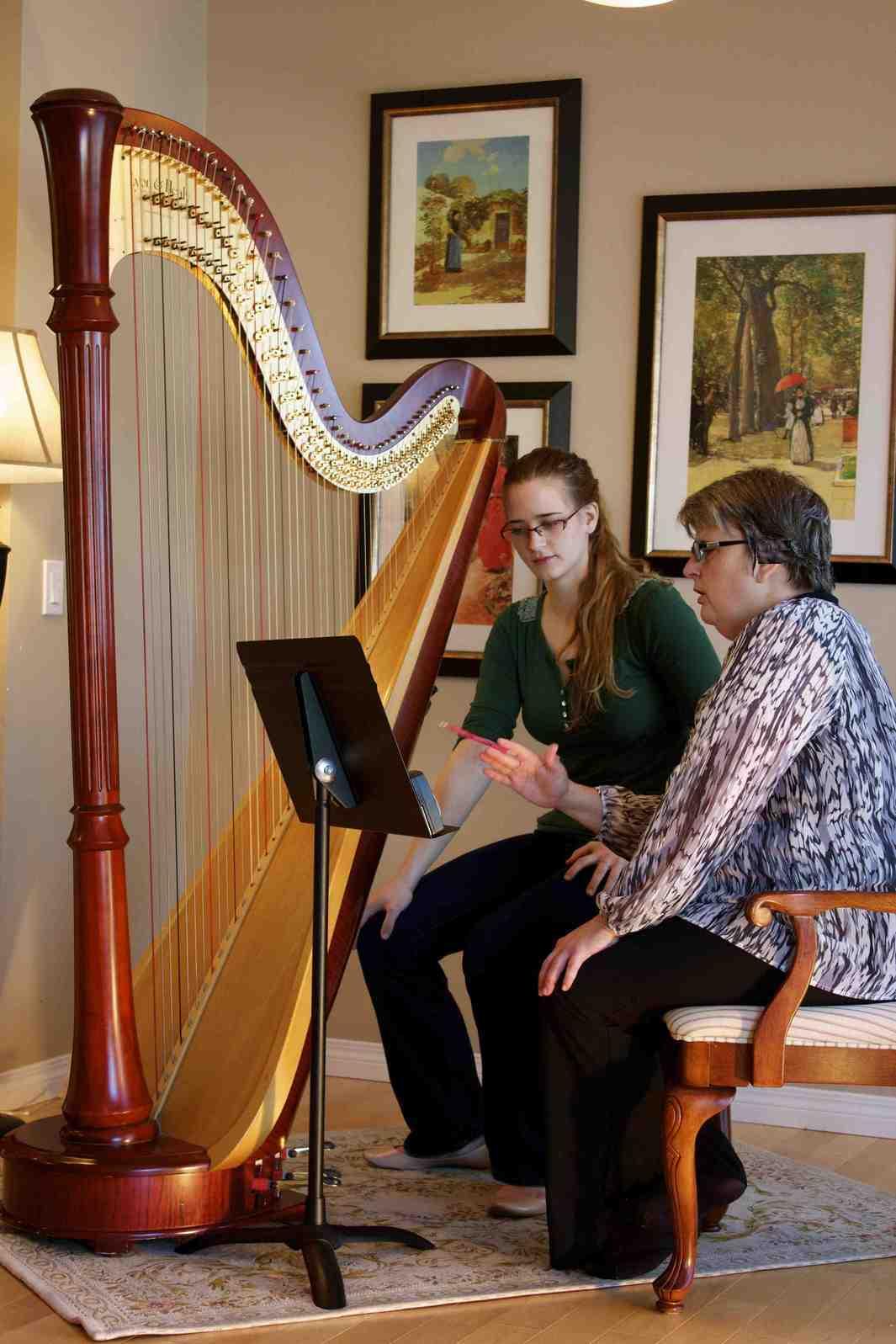 Harp Teacher Tisha teaches Alita