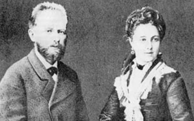 Tchaikovsky with wife Antonina Miliukova