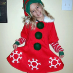girl in elf halloween costume
