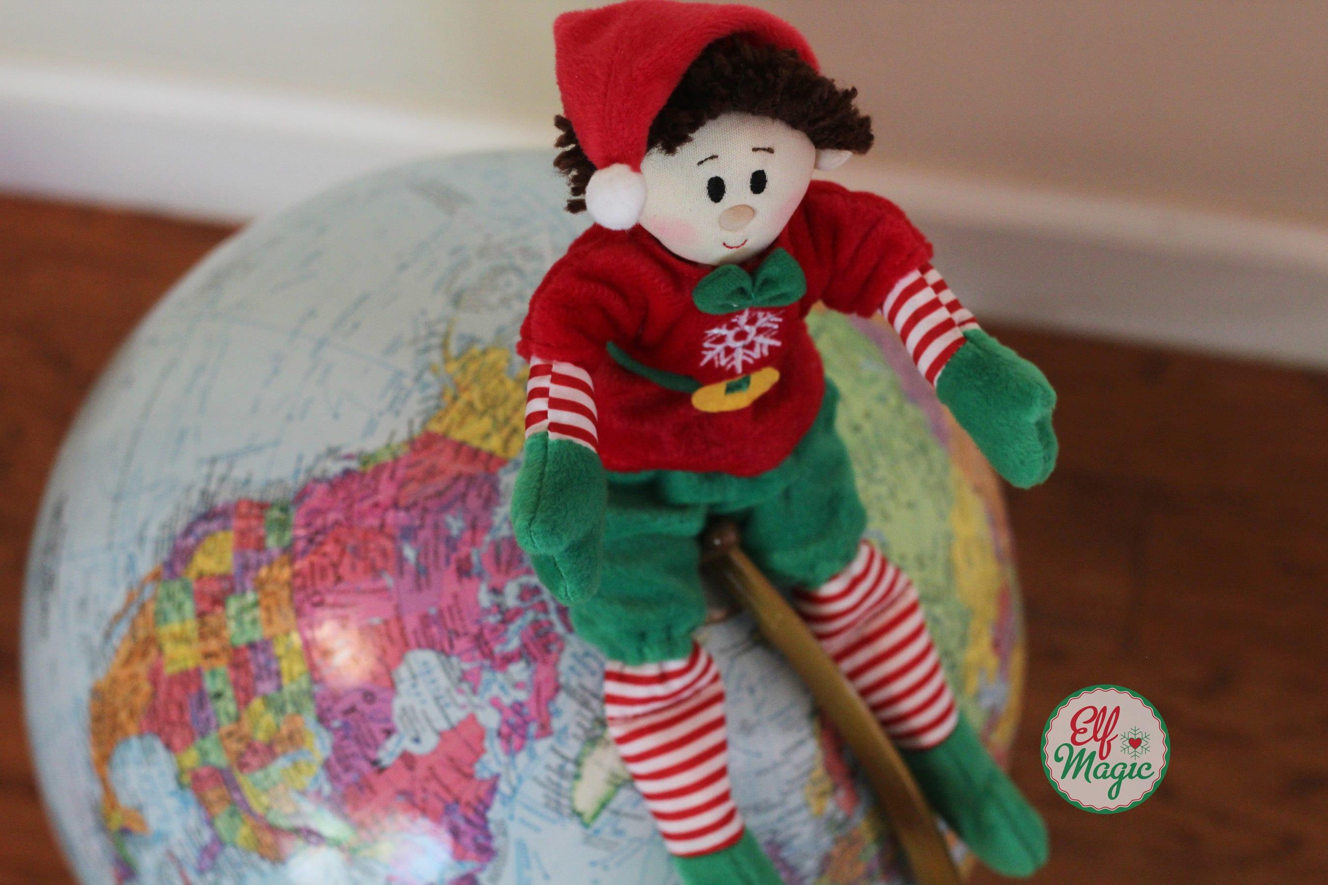 Elf planning a trip