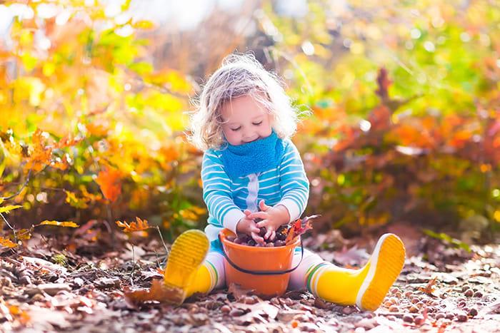 little girl fall activity
