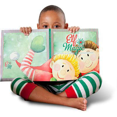 child with the Elf Magic Story Book