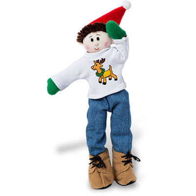 Deer Santa Jean Set shirt