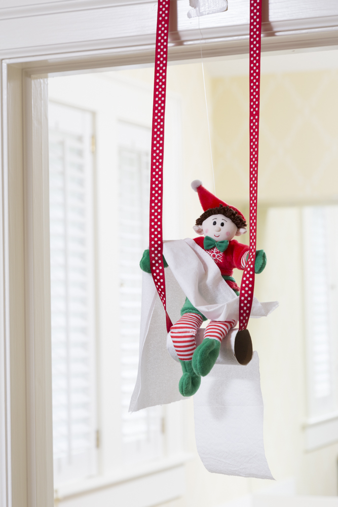 ceiling cloud ideas - Toilet Paper Pranks Elf Magic Santa s Magic Elves Elf