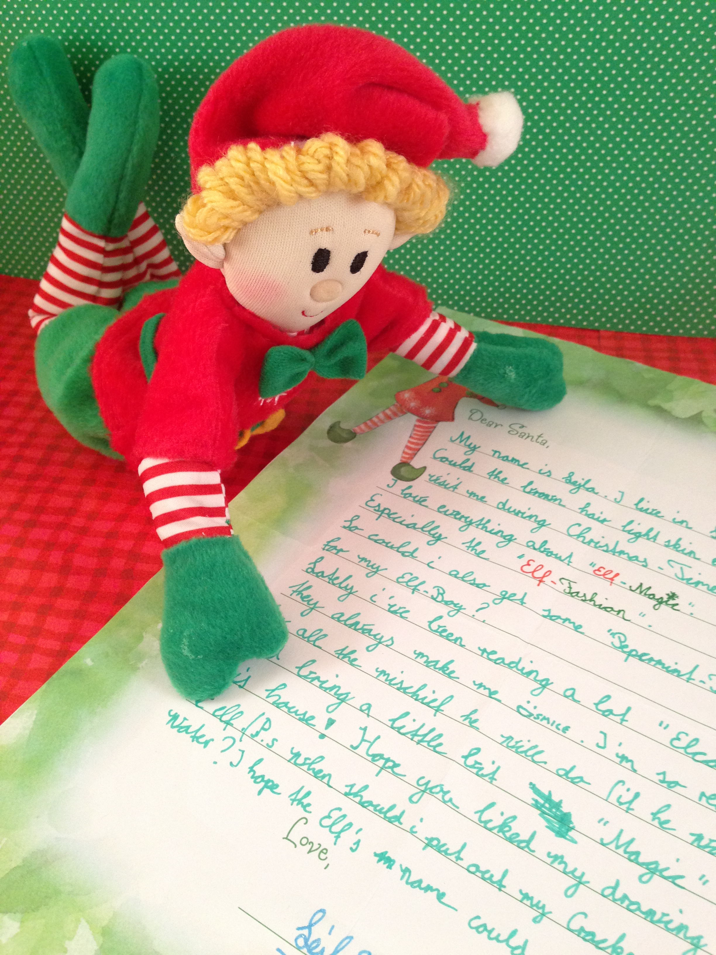 Dear Santa Letter  Elf Ideas From The Elf Magic Elves