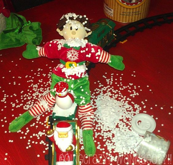 elf in a mess