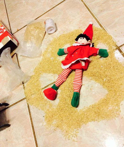 elf snow angel