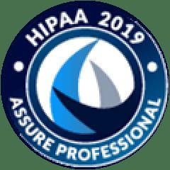 HIPAA 2019 Assured Professional badge
