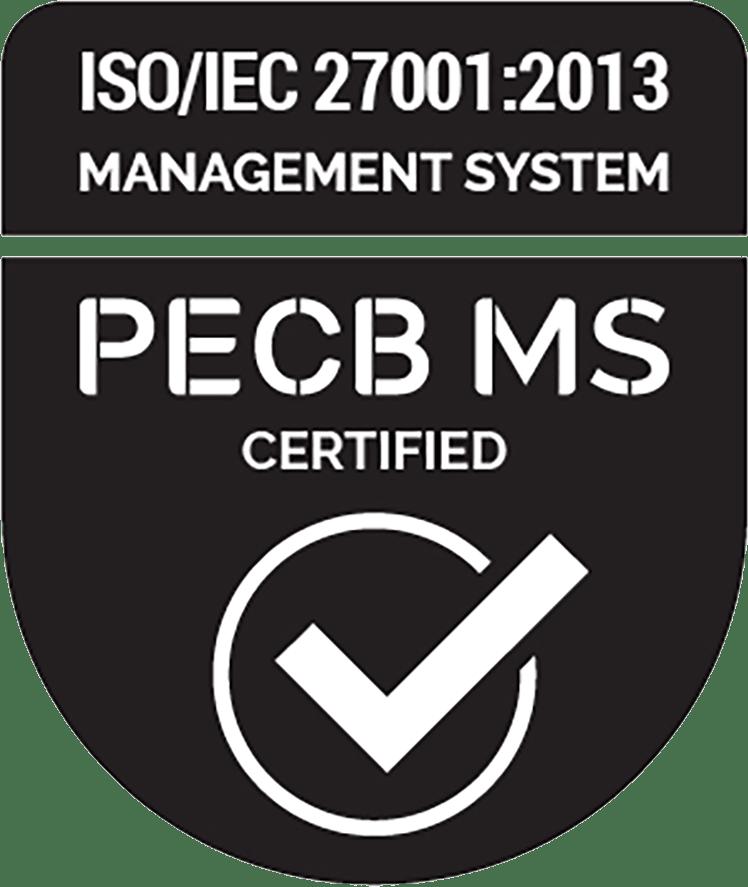 ISO/IEC 27001:2013 PECB MS Certified badge