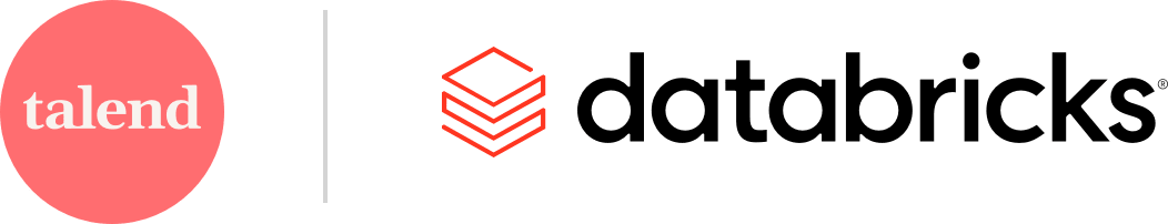 Talend company logo and Databricks company logo