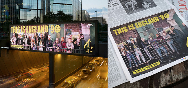 TIE 90 billboard and newspaper.jpg