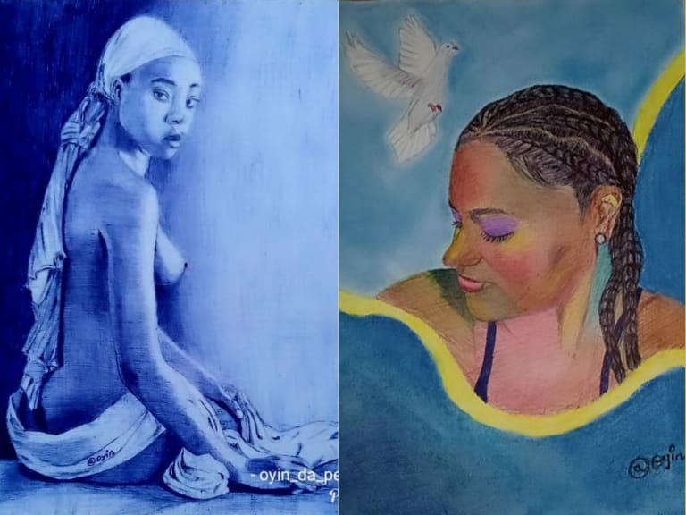 I promote body positivity with my artworks