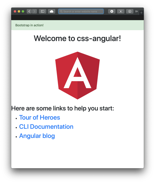 Add Bootstrap to an Angular application