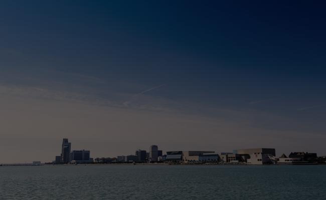 Corpus Christi skyline form the water