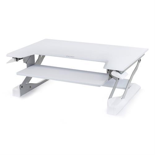 Haworth Ergotron WorkFit Sit-Stand Desktop Workstation - White