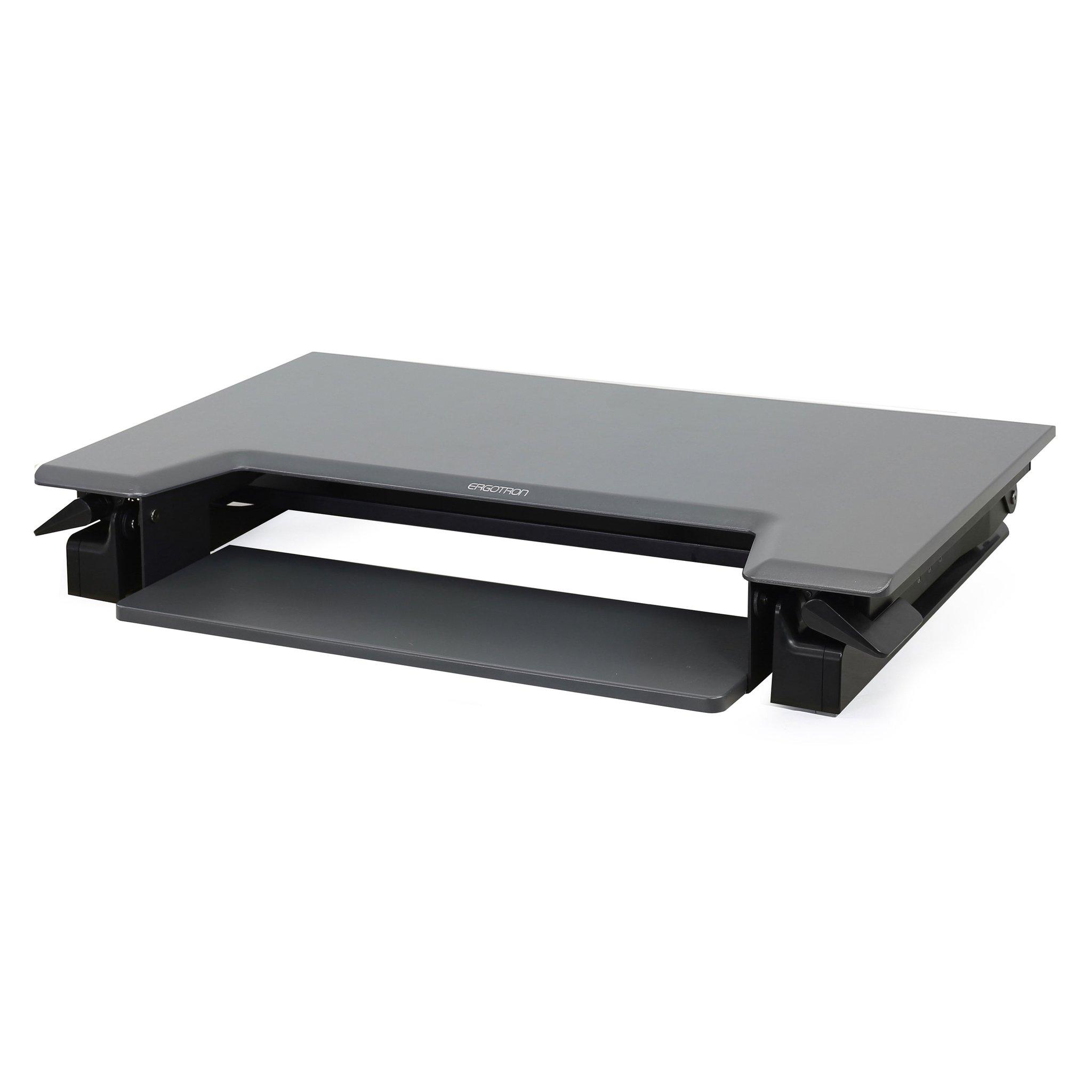 Haworth Ergotron WorkFit Sit-Stand Desktop Workstation - Black