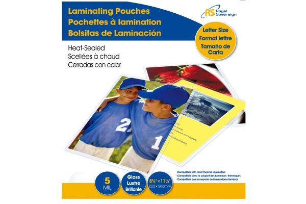 Royal Sovereign International Laminating Pouches 8.75 x 11.25 5ML 200 Pack