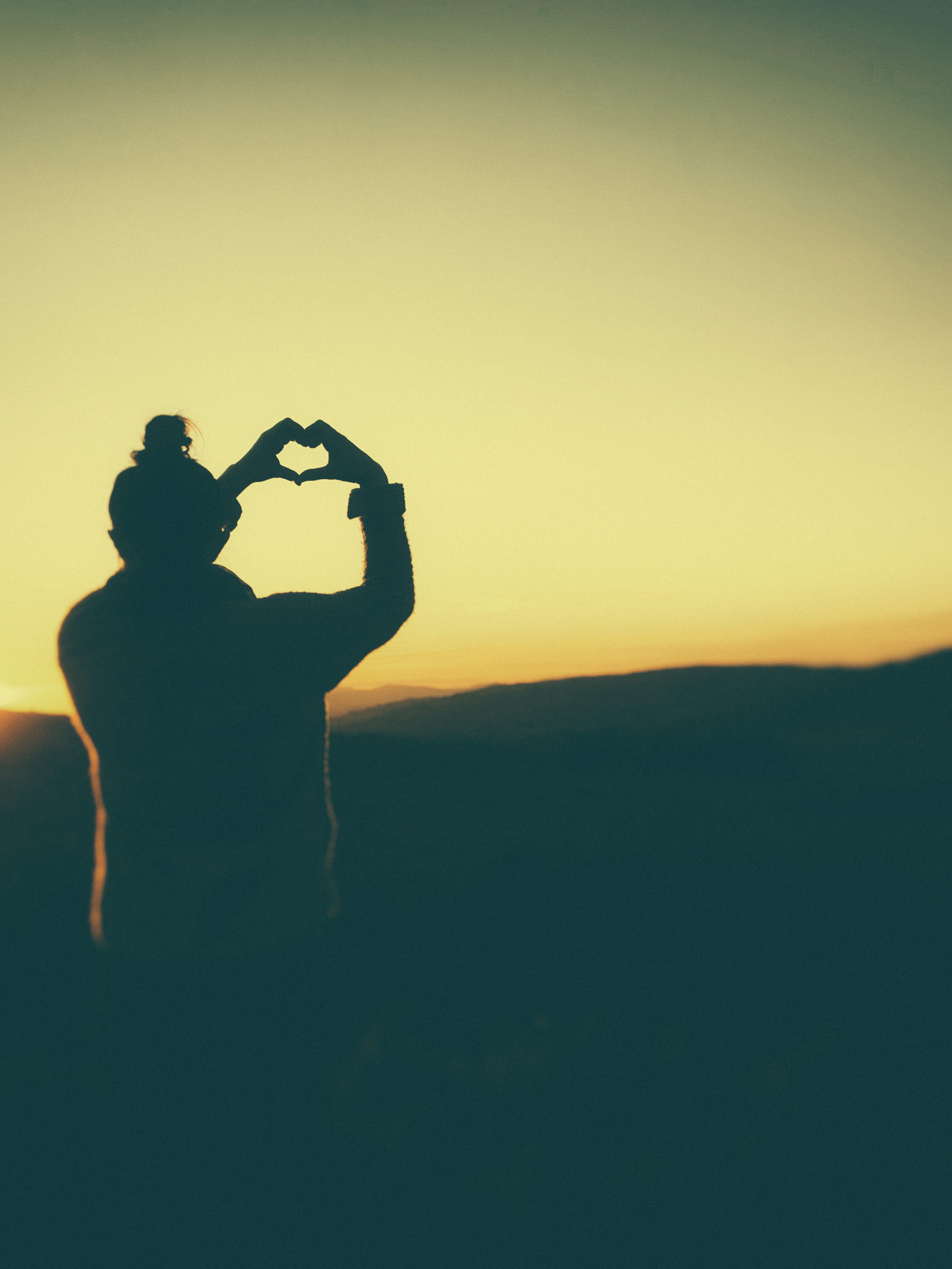 Hände die ein Herz formen