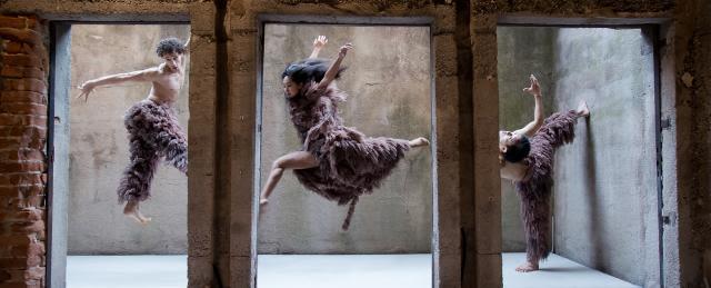 Der TANKTURM als Bühne: Fotoshooting für KHÔRA, Tanzproduktion von Nanine Linning am Theater Heidelberg, Foto: Annemone Taake (www.annemonetaake.de)