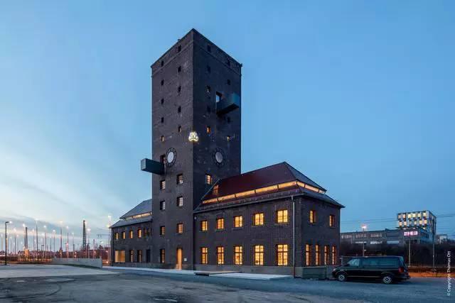 Wasserturm, Ansicht von Südosten, nach dem Umbau, Foto: Thomas Ott