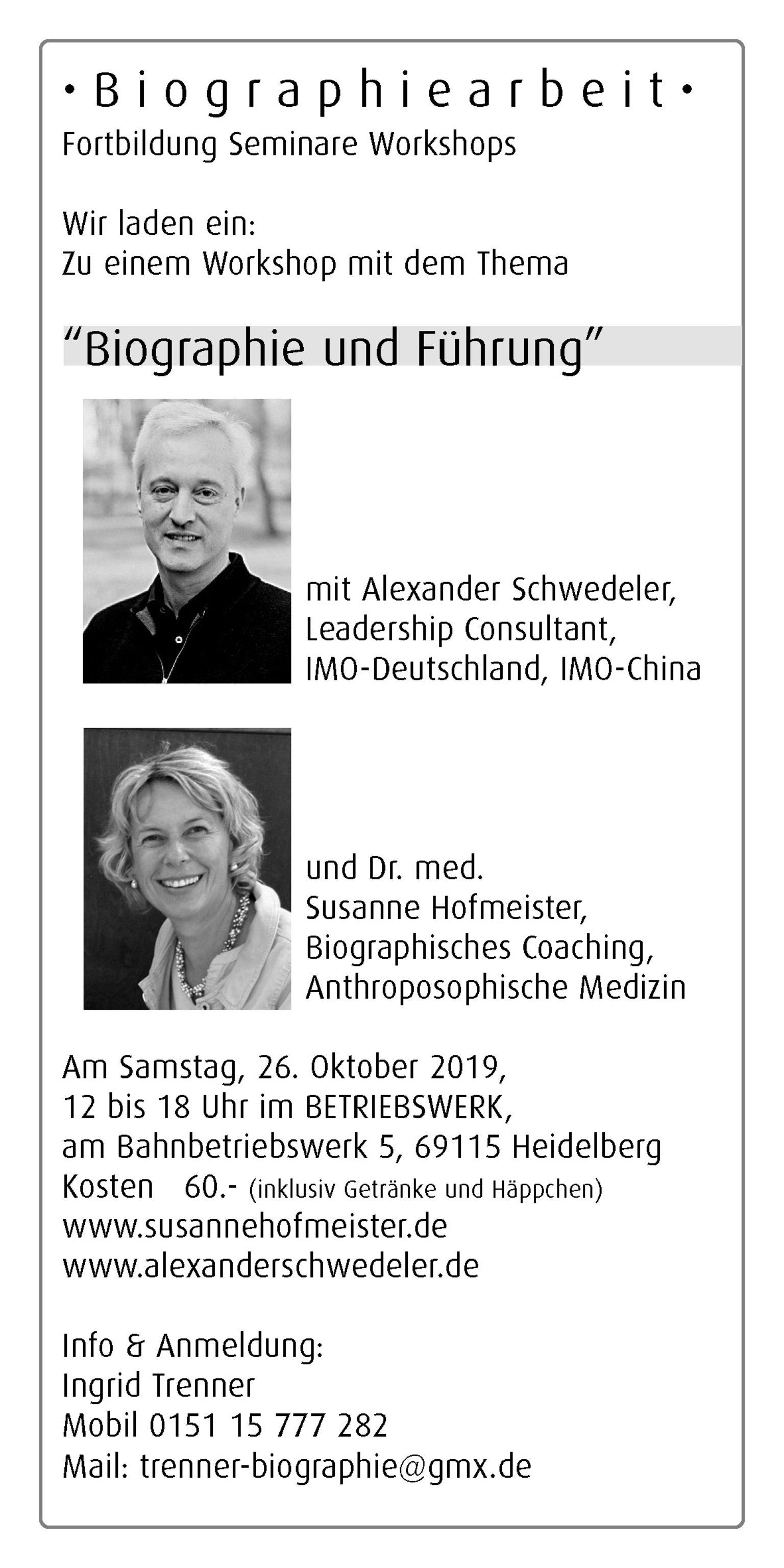 Workshop Biographie & Führung