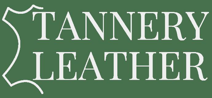 Tannery Leather white logo