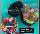 【BLOOM&STRIPES】プリザーボックス M,L &お菓子セット