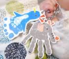 【メモリアルショップforyou】手形足形アートキーホルダー