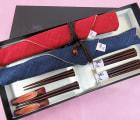 【箸久】ハート箸 夫婦 箸袋 梅小枝箸置きセット