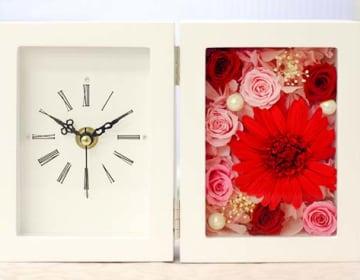 フレームの 置き時計 ガーベラ & ローズ
