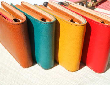 【LEONE】イタリアンレザー 二つ折り財布(小銭入れ付き)