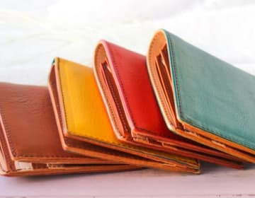 【LEONE】イタリアンレザー二つ折り財布 (お札&カード)