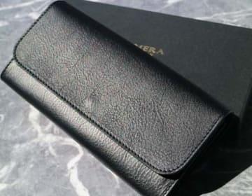 【CHIMERA】フラップ付き長財布(ブラック)