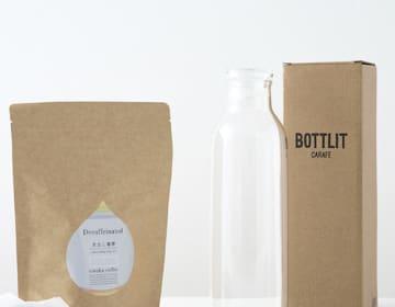 カフェインレス水出しコーヒー(24バッグ)&KINTOブラウンボトルセット