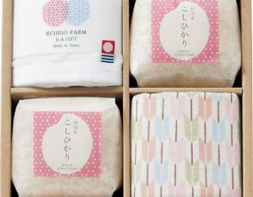 【越後ファーム】お米&今治タオル&ふきんセット