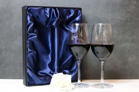 【名入れギフト】ペアクリスタルワイングラス